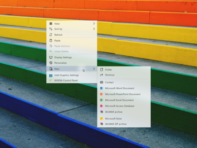 Windows 10 Right Click Context Menu Redesign Concept