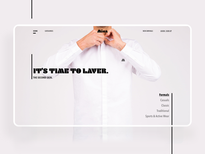 Men's Fasion Clothing - MICA uidesign mica fashion brand branding clothing formal menswear ui design uiux website webdesign fashion