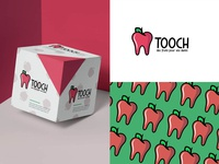 TOOCH -  fruit for teeth fruits food logos graphic web branding logo illustration icon design