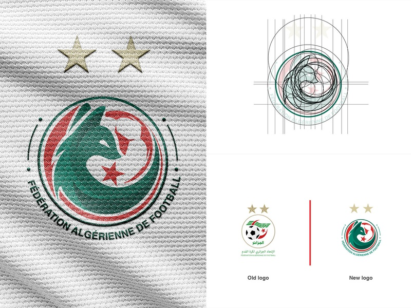 Rebrand logo of FAF - Algeria national team football sport logos vector branding logo illustration icon design