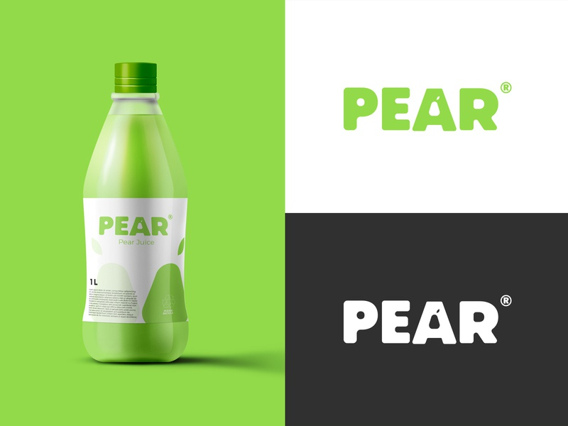 Pear Juice vector flat graphic logos web branding logo illustration icon design logo design