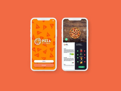 Pizza Connect App ui  ux ios flat website logos illustator indesign food restaurant mobile ux ui graphic app branding web logo illustration icon design