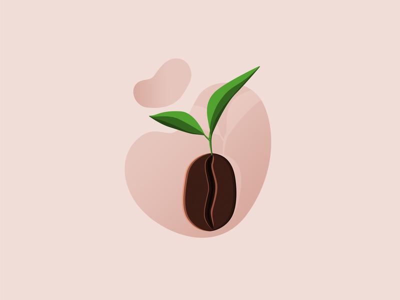 Coffee bean photoshop bean illustrator sprig coffee bean coffee illustration