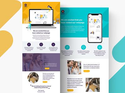 Newsletter Design for Zeevou.com icon web ui flat design branding illustration