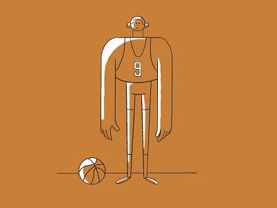 Basketball player character design player basketball design flat character