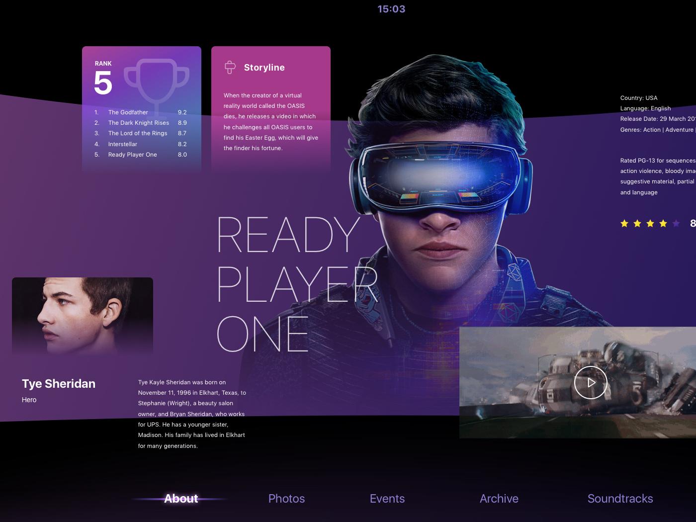 3D TV OS Design illustration animation website web app ux ui design