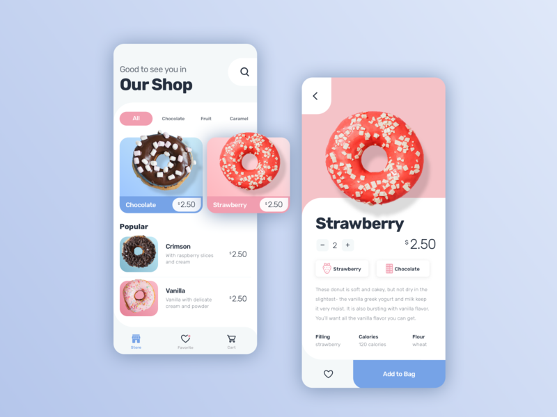 Donuts App Concept design beauty beautiful malachite uidesign ui cards shop sweet app