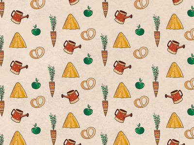 Pattern for Konnaya Dacha logo brand funny kids sketch yellow country style village photoshop pattern illustration intuos wacom