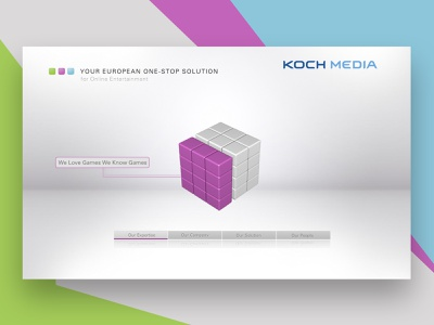 Product Application for Koch Media menu ui design concept concept photoshop 3ds max animation