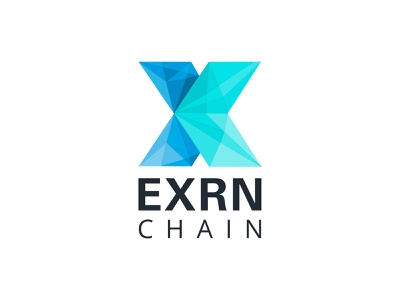 Logo for ExrnChain vector illustration typography photoshop design concept logo design branding