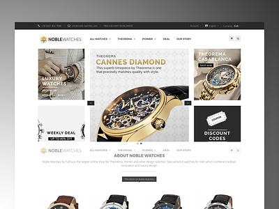 Ecommerce: Noble Watches watches luxury fashion shop design design concept branding ecommerce