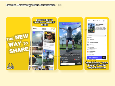 Pass the Mustard V1.0.0 App Store Screenshots ios app store icon genz screenshots mustard pass the mustard video sharing app app store app store screenshot