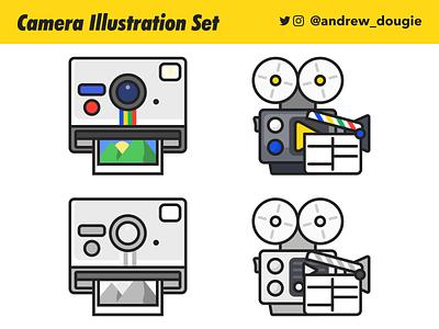 cam illustration simple design camera web vector illustration