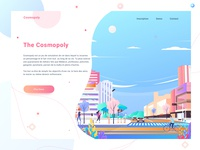 Cosmopoly Landing page