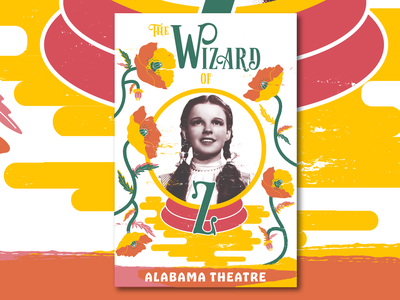 Wizard Of Oz vector wizard of oz poster illustration design poppies