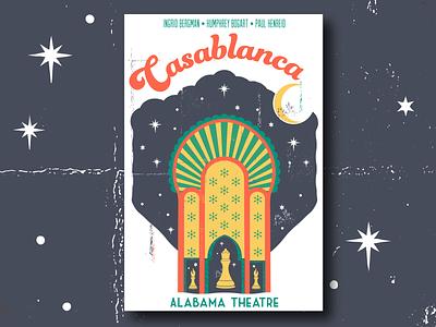 Casablanca Poster poster vector mystic moon birmingham design illustration
