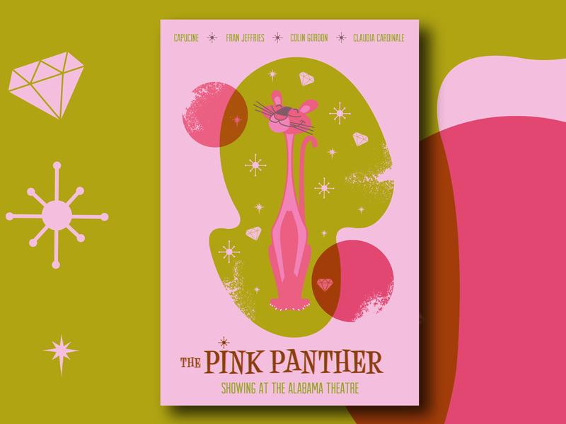 Pink Panther pink panther birmingham poster design illustration