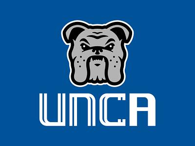 UNC Asheville Rebrand Concept university college logo bulldog asheville north carolina