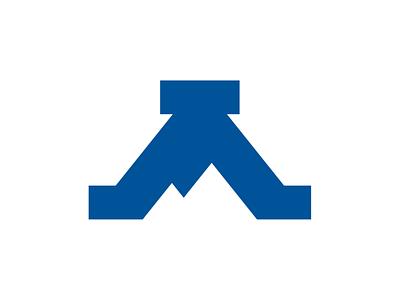 UNC Asheville A Logo Concept a university north carolina logo college mountain bulldog asheville