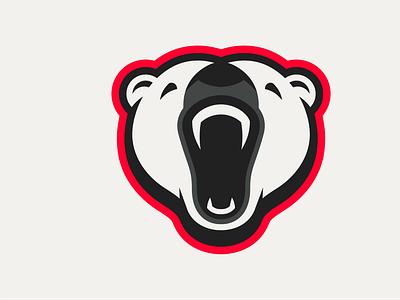 Polar Bear Logo roar head polar bear bear logo
