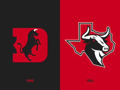Dallas Toros Rebrand dallas texas toro bull logo branding illustration baseball