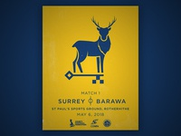 Surrey International Match Poster