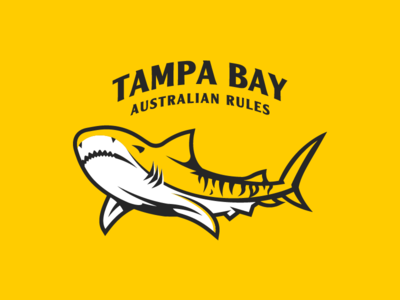 Tiger Sharks Aussie Rules afl australian rules logo shark tiger sharks tigers tampa tampa bay