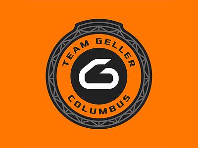Team Geller Curling black orange crest logo curling ohio