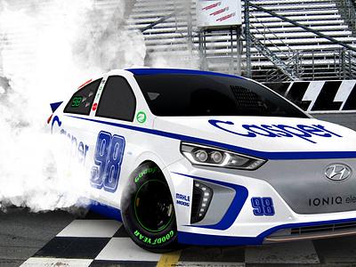 eStocks Burnout burnout racing electric car race car photoshop hyundai