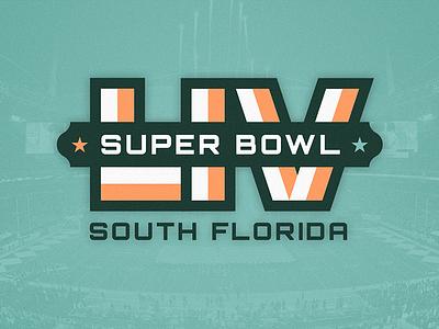 Super Bowl LIV Logo Concept brand logo football nfl super bowl south florida florida