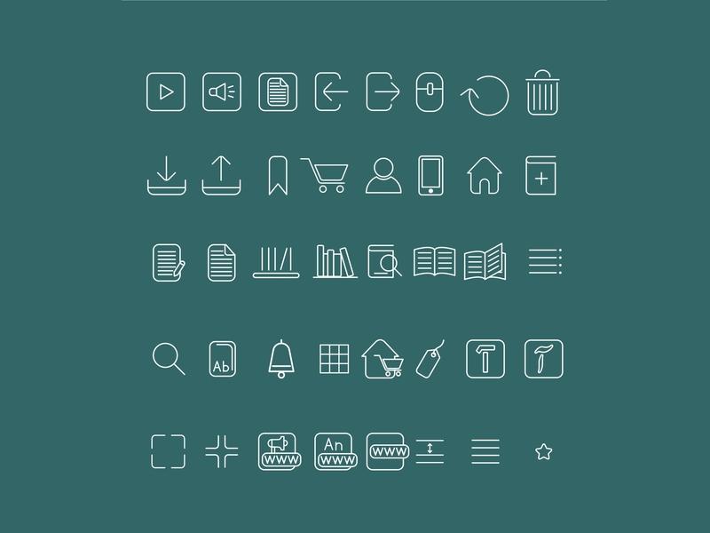 Icon For Ebook Application graphic design graphic ebook icon app icon app uidesign web logo design ux ui dailyui