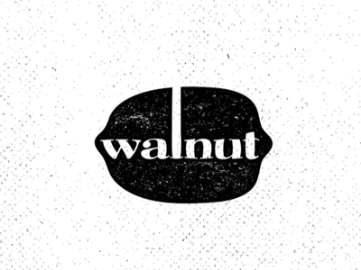 Walnut Mark lockup mark walnut logo