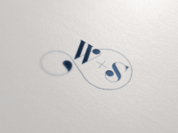 W s logo gold foil initials