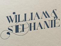 William & Stephanie Logo