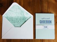 Y2Kasnic Wedding Invitation Guidebook and Envelope Liner