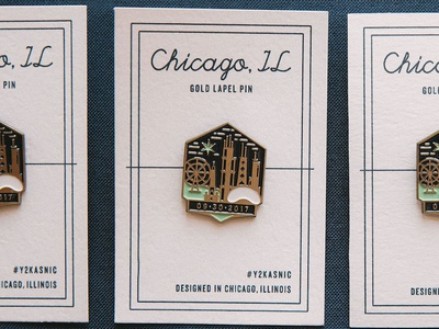 Gold Enamel Pins - Y2Kasnic Wedding Favors ferris wheel hancock bean buildings architecture chicago lapel pin enamel pin gold branding wedding