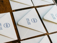 Y2Kasnic Wedding: Envelopes + Logo Stamp + Envelope Liner