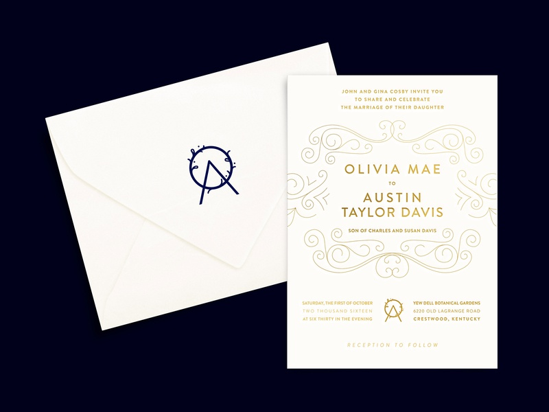 Oa Wedding Invitation Logo Stamped Envelope By Lindsey Yadon