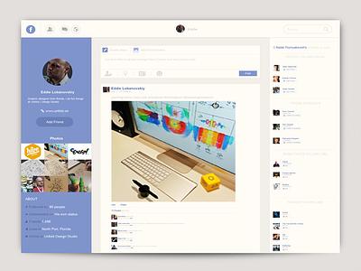 Facebook Profile (redesign facebook profile redesign shadow eddie pakistan ui