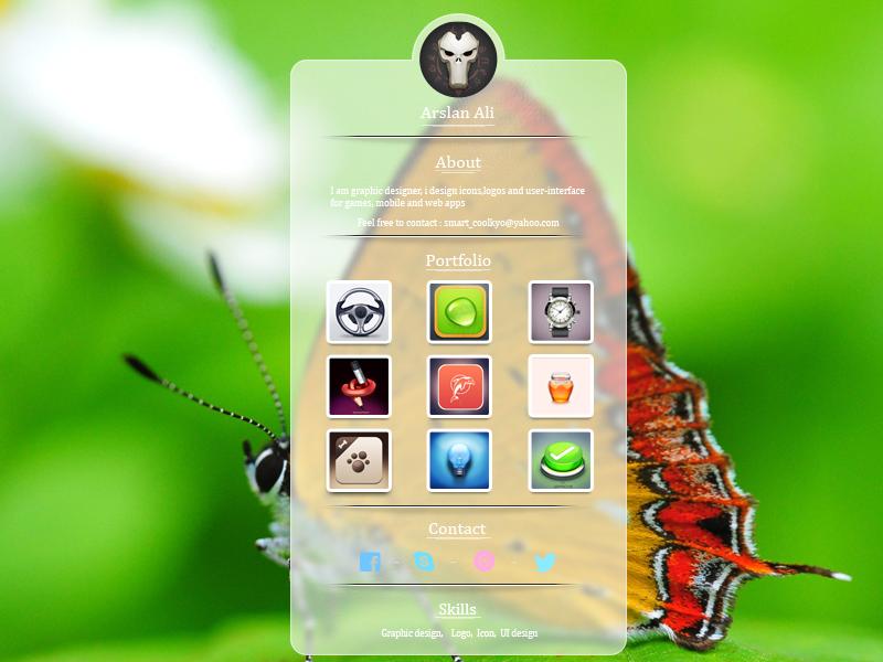 Profile UI design ( Get free PSD ) profile ui design get free psd icon pakistan