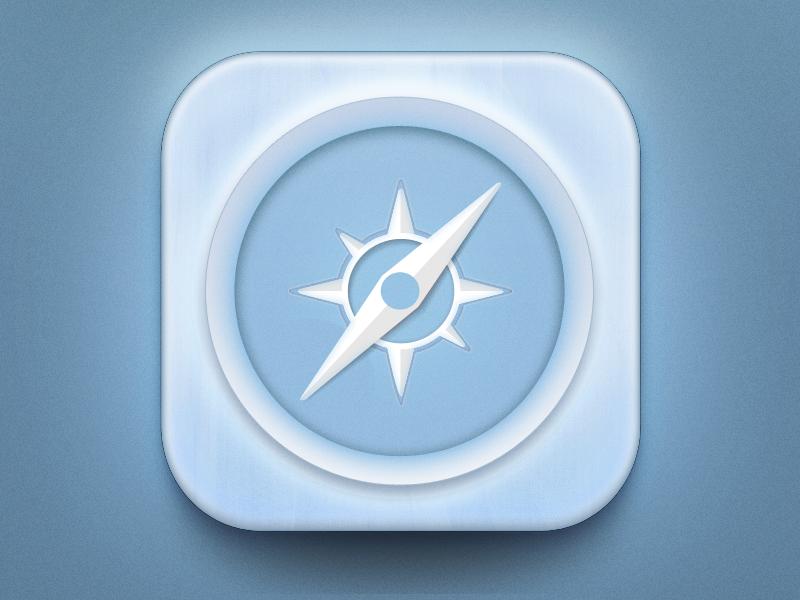 Safari IOs Icon safari icon psd free get ios pakistan blue light