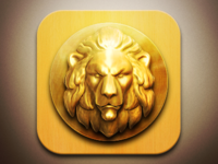 Lion IOS app icon