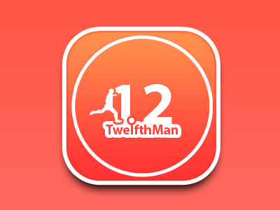 TwelfthMan Sports Football App icon twelfthman sports app icon project recently working orange red 12
