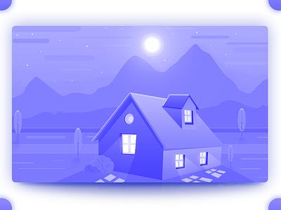 House arslan blue practice illustration house