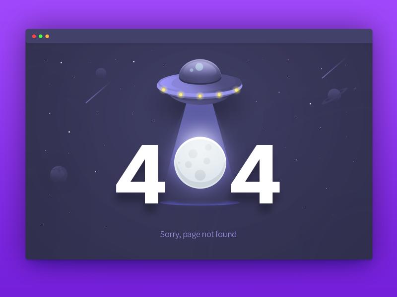 404 error page deisgn example #101: 404 Page