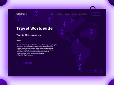 Travel Worldwide concept design web coutries tour illustration agency worldwide travel