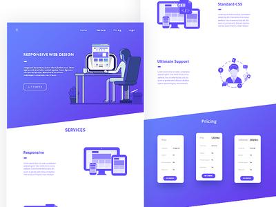 Responsive Web Design coffe designer illustration responsive web design