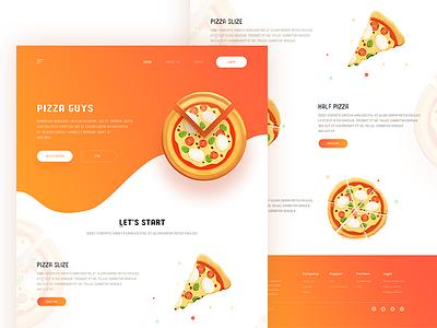 Pizza Guys pakistan arslan page landing web pizza guys illustration