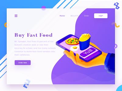 Buy Fast Food food landing page fast illustration arslan pakistan buy