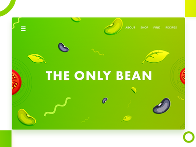 The Only Beans ( Hero Illustration ) redesign illustration web pakistan arslan beans only page landing